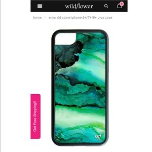 Wildflower Emerald Stone IPhone 6+ 7+ and 8+ Case
